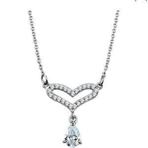 .925 Silver & Rhodium CZ Necklace